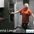 Gale Hannah in her new kitchen
