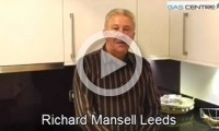 Richard Mansell in his new Kitchen