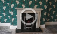 Marble fireplace supplied and installed by our fireplace showroom in Bradford
