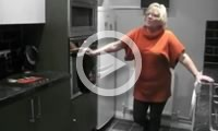 Gale Hannah stood in her new kitchen